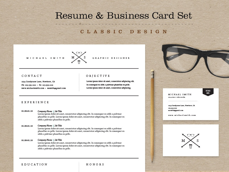 Dribbble  Resume Business Cards