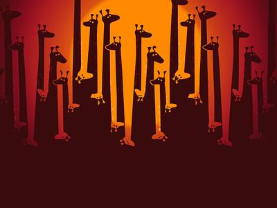 Giraffe design illustration art drawing giraffe animal