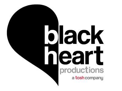 Black Heart Productions Logo logo design tv