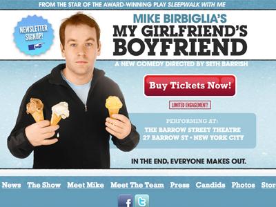 Mike Birbiglia Landing Page web design landing page