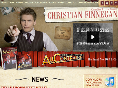 Christian Finnegan Web Site web design