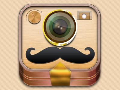 PicThis App Icon ios app icon ui mustache camera fun