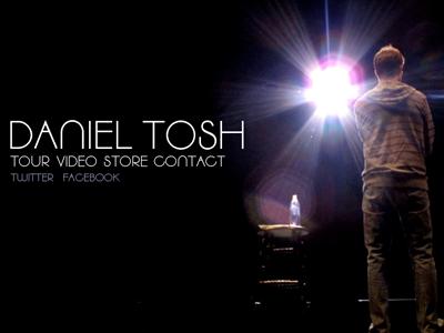 Daniel Tosh Website website comedy design type simple dark