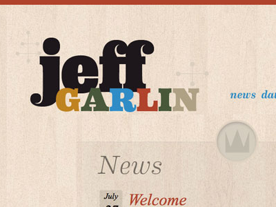 Jeff Garlin Website type wood comedy design website