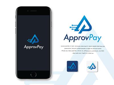 ApprovPay Design Concept 2 logodesign logo and brand identity design icon illustrator graphic designer branding applogo app