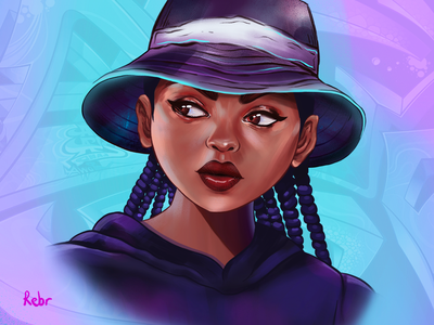 GTA portrait procreate portrait illustration design