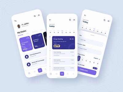 TASK MANAGEMENT android app design ios app design mobile app design employee management illustration activity tracker task management