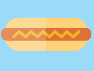 hot dog, icon food icon flat italy illustrator design hot dog