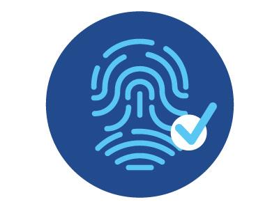 Biometrics Icon icon illustration infographic biometric