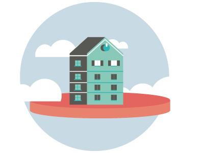 House vector illustrator illustration sky volume house