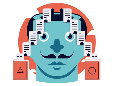 Storyteller infographic clouds idea mind books icon geometric flat minimal illustrator illustration storytelling