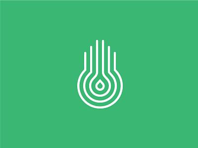 Idrolab identity minimal design green grow hydroponic drop illustrator logo