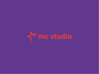 mc studio logo star red mark minimal design vector brand icon italy identity illustrator logo illustration