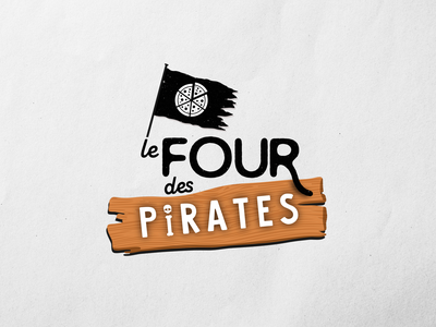 Le Four des pirates vector icon minimal typography logo illustrator illustration design branding pizza logo pizza pirate