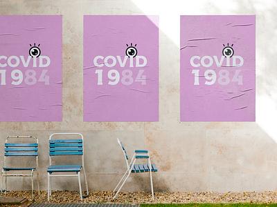 Covid 1984 orwell typography logo illustration branding pandemic covid19 coronavirus
