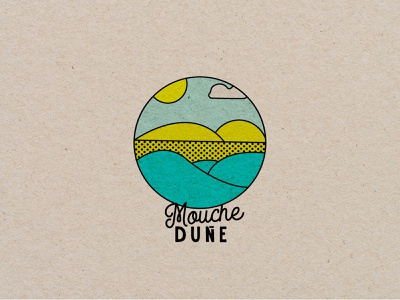 Mouche Dune icon design vector minimal illustrator typography jewelery branding island seal ocean sea