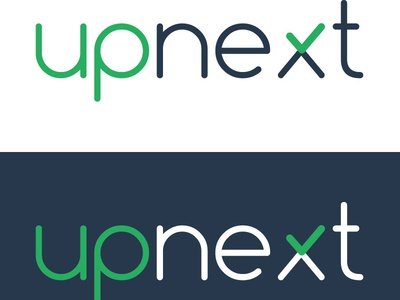 Upnext Logo logo app design