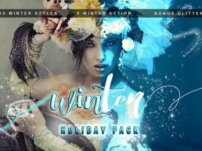 Winter Pack Photoshop Action winter photoshop action winter action snowy action snowflake snowfall ice frost xmas light season christmas cold snow winter