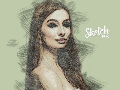 Sketch FX - Photo Effect Plugin  style  stroke  sketch  plugin  photoshop  panel pencil  paint  outline  line  illustration hatch  hand drawn  filter  effect  drawing  draw  digital art  design color