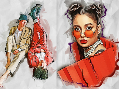 Fashion Sketch Photoshop Action  manual  grunge  gouache  future  fashion  effects  digital painting  digital art  digital  concept art  concept  colorful  cartoon  brushstroke  brush  atn  artwork  artistic  artist actions