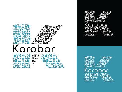 Karobar hmo hmmurtazaofficial logo type typography vector illustrator illustration flat graphic design design branding