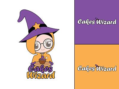 Cakes Wizard hmmurtazaofficial hmo type typography vector logo illustrator illustration graphic design flat design branding