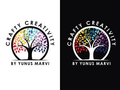Crafty Creativity hmo hmmurtazaofficial vector typography type logo illustrator illustration graphic design flat design branding
