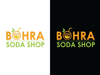 Bohra Soda hmo typography vector type logo illustrator illustration graphic design flat design branding