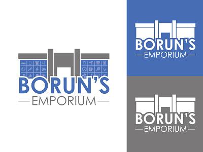 Borun's Emporium hmo store ecommerce online order animation corporate business solution cement vector illustrator illustration flat design branding logo motion graphics graphic design ui
