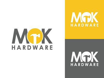 MOK Hardware hmmurtazaofficial nails company business screw drivers saw drill screw hammer hardware vector illustration illustrator flat design branding logo motion graphics graphic design ui