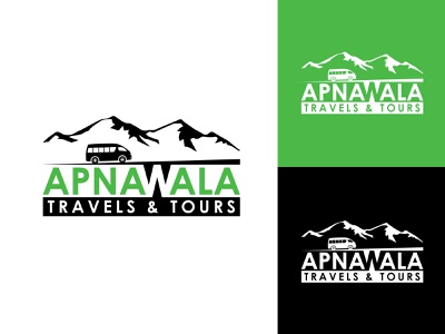 Apnawala Travels & Tours hmmurtazaofficial hills driver kashmir travelers tours travel ux 3d animation motion graphics vector ui logo illustrator illustration graphic design flat design branding