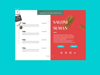 portfolio Design uxui webdesign uxdesign web website branding portfolio ux ui flat figma design