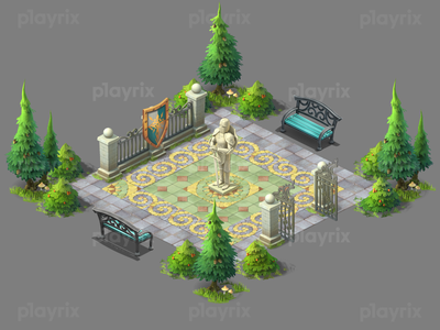 Gardenscapes decor illustration gamedev game playrix gardenscapes design art