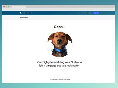 Error Page error server error 404