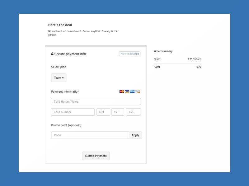 Payment system visa codacy ui payment
