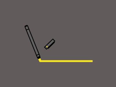 Pen geometric figures illustration