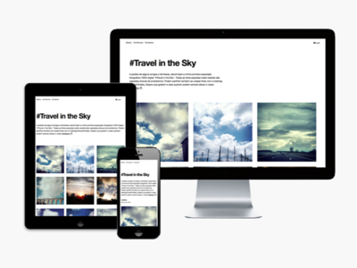 #Travel in the Sky photografy design website