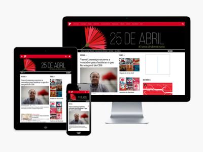 Público – 25 de Abril website design