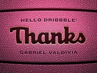 Hi Dribbble! Thanks Gabe!