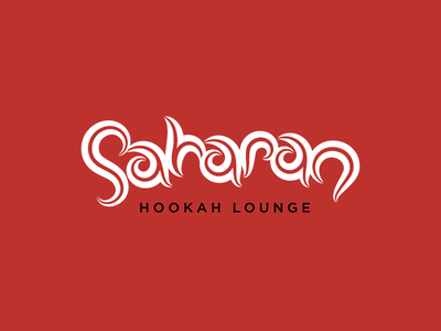 Saharan Lounge logo hookah smoke genie arab arabian arabic custom type typogaphy wisp wispy typography type smoky sahara saharan lounge custom typography