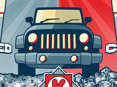 Jeep illustration contest jeep propaganda circle k vote election