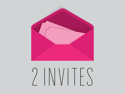 2 Dribbble Invites dribbble invite invitation invites flat icon envelope hit me with your best shot draft prospect prospects