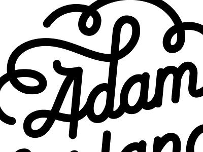 Personal Branding black and white adam nerland personal brand monoline script flourish swirl feedback adam nerland black white monoweight monochromatic line