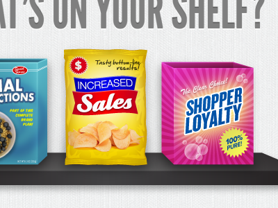 What's On Your Shelf? shelf cereal box chip chips bag detergent soap