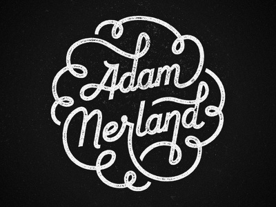Personal Branding adam adam nerland black black and white flourish line monochromatic monoline monoweight nerland personal swirl white custom type custom typography feedback script brand