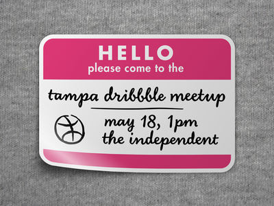 Tampa Dribbble Meetup tampa dribbble meetup hello sticker