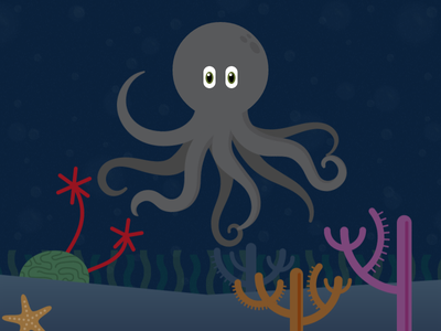 Davy Jones Lives The Dream illustration html html5 web css javascript octopus underwater animation water parallax skrollr