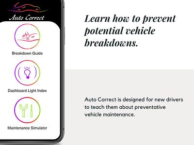 Auto Correct logo icon app ui ux information design design illustration