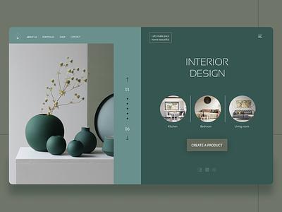 Interior Design minimalism house interiordesign interior design web ui shot