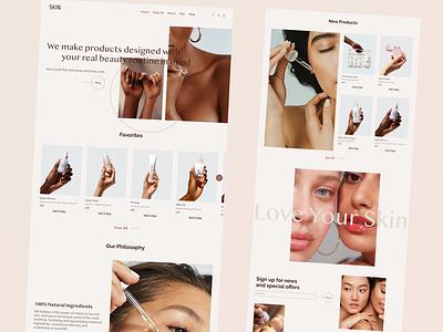 Skincare, Online Store minimalism beauty online store online shop cosmetics cosmetic body care skin skincare ux webdesign web design ui shot